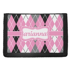 Argyle Trifold Wallet (Personalized)
