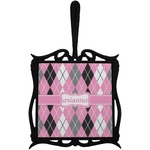 Argyle Trivet with Handle (Personalized)