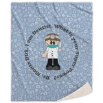 Dentist Sherpa Throw Blanket (Personalized)