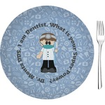 "Dentist Glass Appetizer / Dessert Plates 8"" - Single or Set (Personalized)"