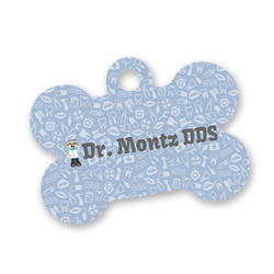 Dentist Bone Shaped Dog ID Tag (Personalized)