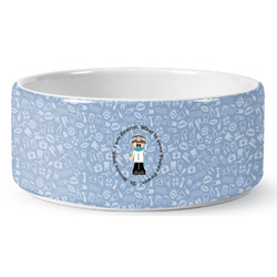 Dentist Ceramic Dog Bowl (Personalized)
