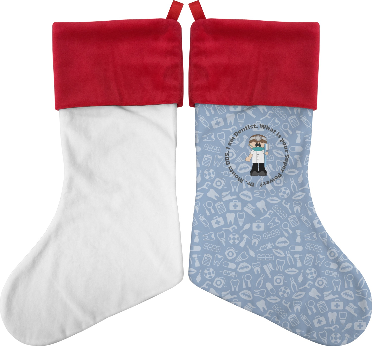 Dentist Christmas Stocking Personalized