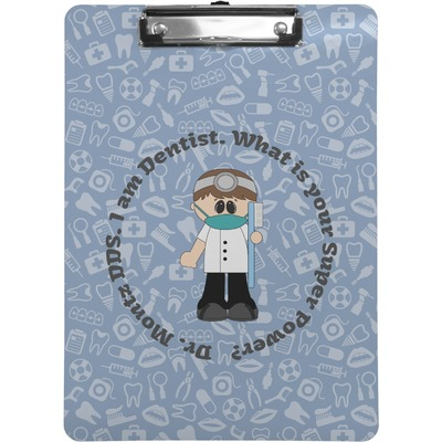 Dentist Clipboard Letter Size Personalized