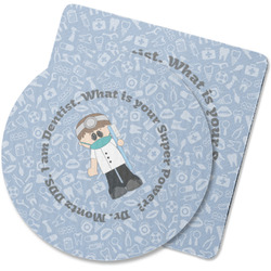 Dentist Rubber Backed Coaster (Personalized)
