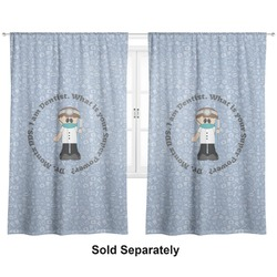 "Dentist Curtains - 56""x80"" Panels - Lined (2 Panels Per Set) (Personalized)"