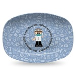 Dentist Plastic Platter - Microwave & Oven Safe Composite Polymer (Personalized)