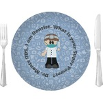 "Dentist Glass Lunch / Dinner Plates 10"" - Single or Set (Personalized)"