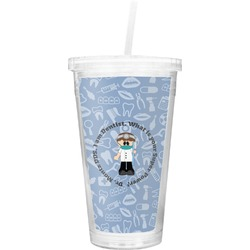 Dentist Double Wall Tumbler with Straw (Personalized)
