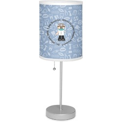 """Dentist 7"""" Drum Lamp with Shade Linen (Personalized)"""