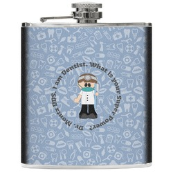 Dentist Genuine Leather Flask (Personalized)