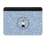 Dentist Genuine Leather Front Pocket Wallet (Personalized)