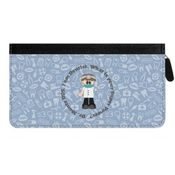 Dentist Genuine Leather Ladies Zippered Wallet (Personalized)