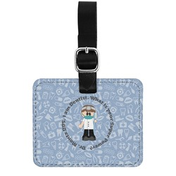 Dentist Genuine Leather Rectangular  Luggage Tag (Personalized)