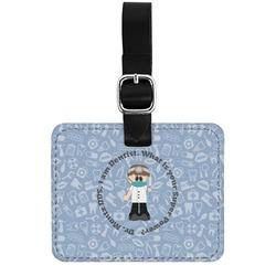 Dentist Genuine Leather Rectangular  Luggage Tag (Personalized)