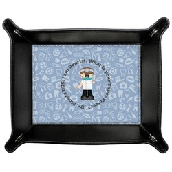 Dentist Genuine Leather Valet Tray (Personalized)