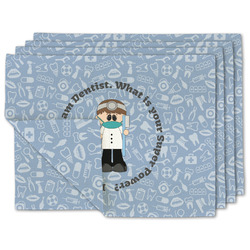Dentist Linen Placemat w/ Name or Text