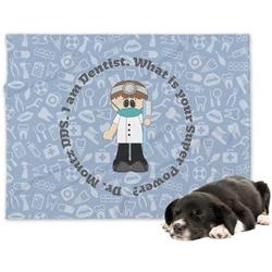 Dentist Minky Dog Blanket (Personalized)