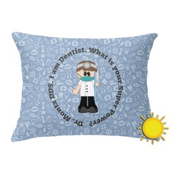 Dentist Outdoor Throw Pillow (Rectangular) (Personalized)