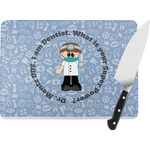 Dentist Rectangular Glass Cutting Board (Personalized)