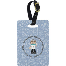 Dentist Rectangular Luggage Tag (Personalized)