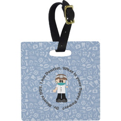Dentist Square Luggage Tag (Personalized)
