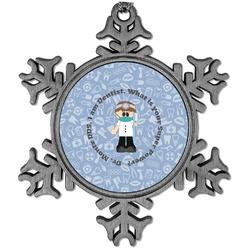 Dentist Vintage Snowflake Ornament (Personalized)