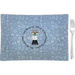 Dentist Glass Rectangular Appetizer / Dessert Plate - Single or Set (Personalized)