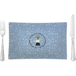 Dentist Rectangular Glass Lunch / Dinner Plate - Single or Set (Personalized)
