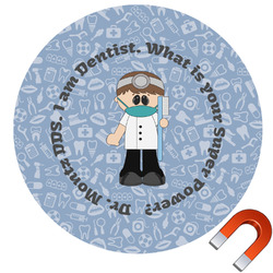 Dentist Round Car Magnet (Personalized)