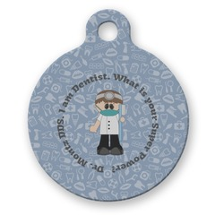 Dentist Round Pet Tag (Personalized)