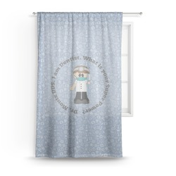 Dentist Sheer Curtains (Personalized)