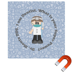 Dentist Square Car Magnet (Personalized)