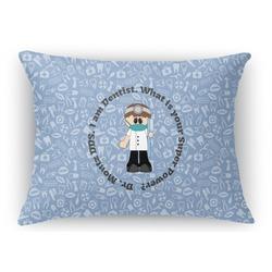 Dentist Rectangular Throw Pillow Case (Personalized)