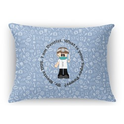 Dentist Rectangular Throw Pillow Case (Personalized)