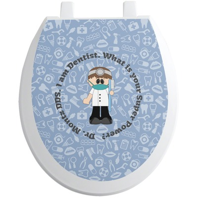 Dentist Toilet Seat Decal (Personalized)