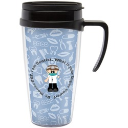 Dentist Travel Mug with Handle (Personalized)