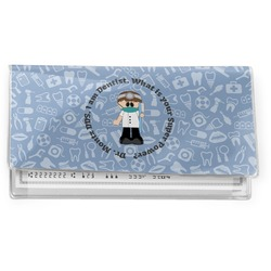 Dentist Vinyl Checkbook Cover (Personalized)