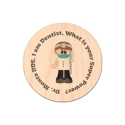 Dentist Genuine Maple or Cherry Wood Sticker (Personalized)