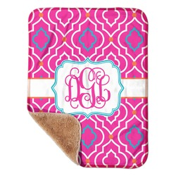 "Colorful Trellis Sherpa Baby Blanket 30"" x 40"" (Personalized)"