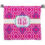 Colorful Trellis Full Print Bath Towel (Personalized)