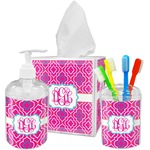 Colorful Trellis Bathroom Accessories Set (Personalized)
