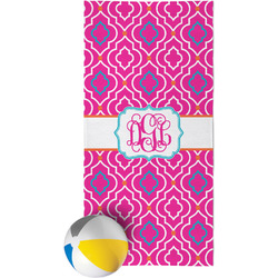 Colorful Trellis Beach Towel (Personalized)