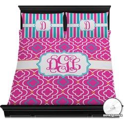 Colorful Trellis Duvet Cover Set (Personalized)