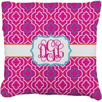 Colorful Trellis Burlap Throw Pillow (Personalized)
