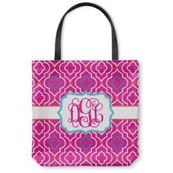 Colorful Trellis Canvas Tote Bag (Personalized)