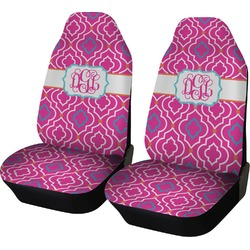Colorful Trellis Car Seat Covers (Set of Two) (Personalized)