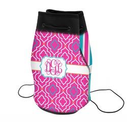Colorful Trellis Neoprene Drawstring Backpack (Personalized)