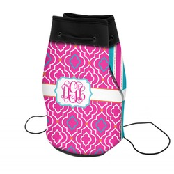 Colorful Trellis Neoprene Drawstring Backpack (Personalized)