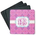 Colorful Trellis 4 Square Coasters - Rubber Backed (Personalized)